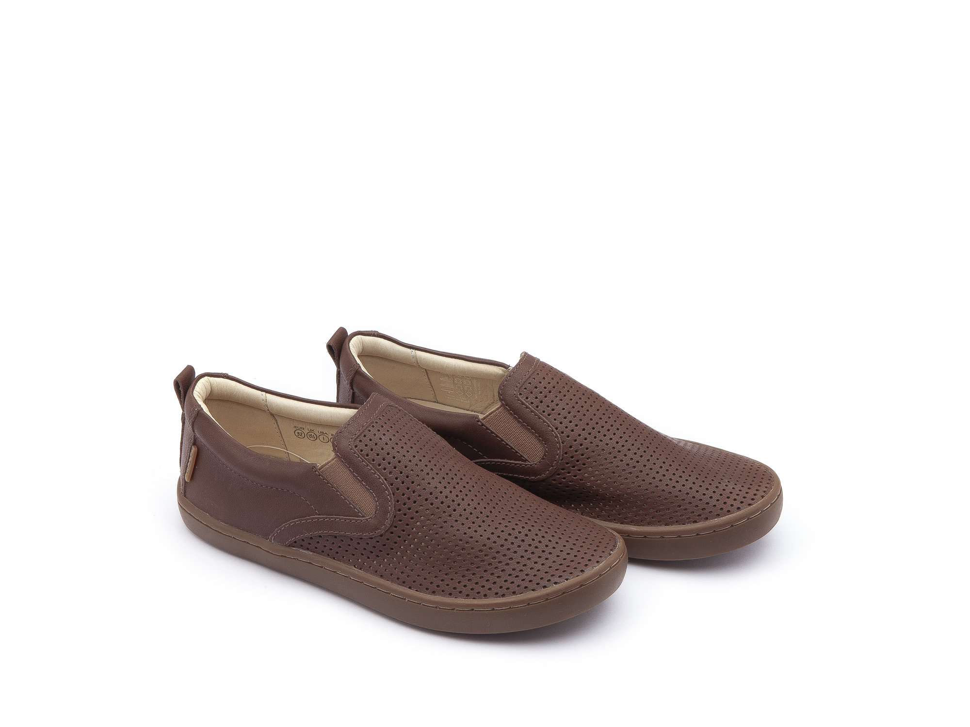 Sneaker Casual Straw Old Brown Holes/ Old Brown Junior 4 à 8 anos - 0