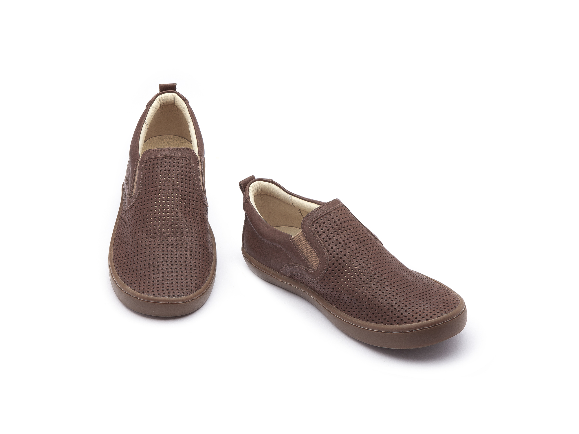 Sneaker Casual Straw Old Brown Holes/ Old Brown Junior 4 à 8 anos - 2