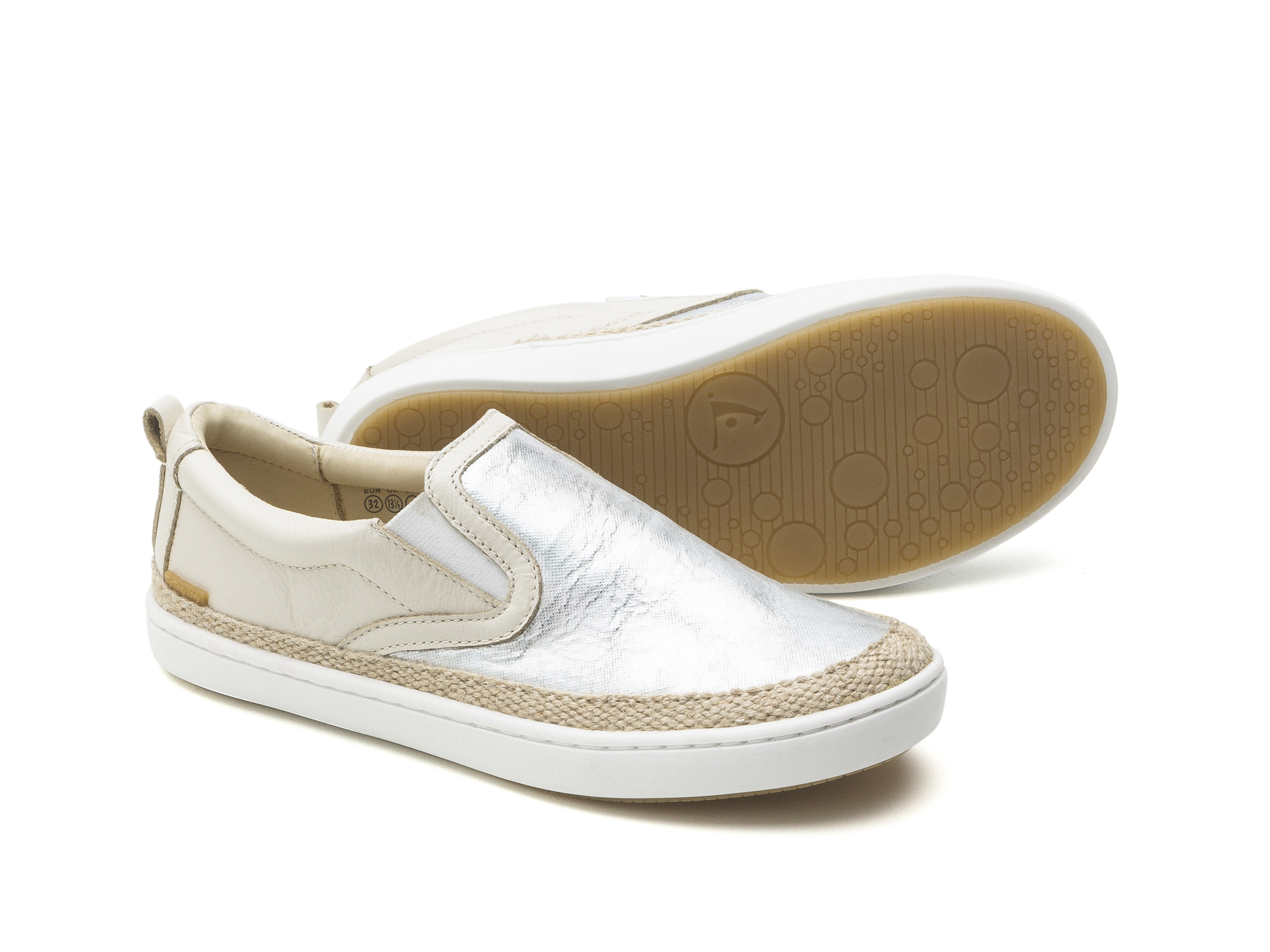 Tênis Straw Sea Sparkle/ Antique White Junior 4 à 8 anos - 1