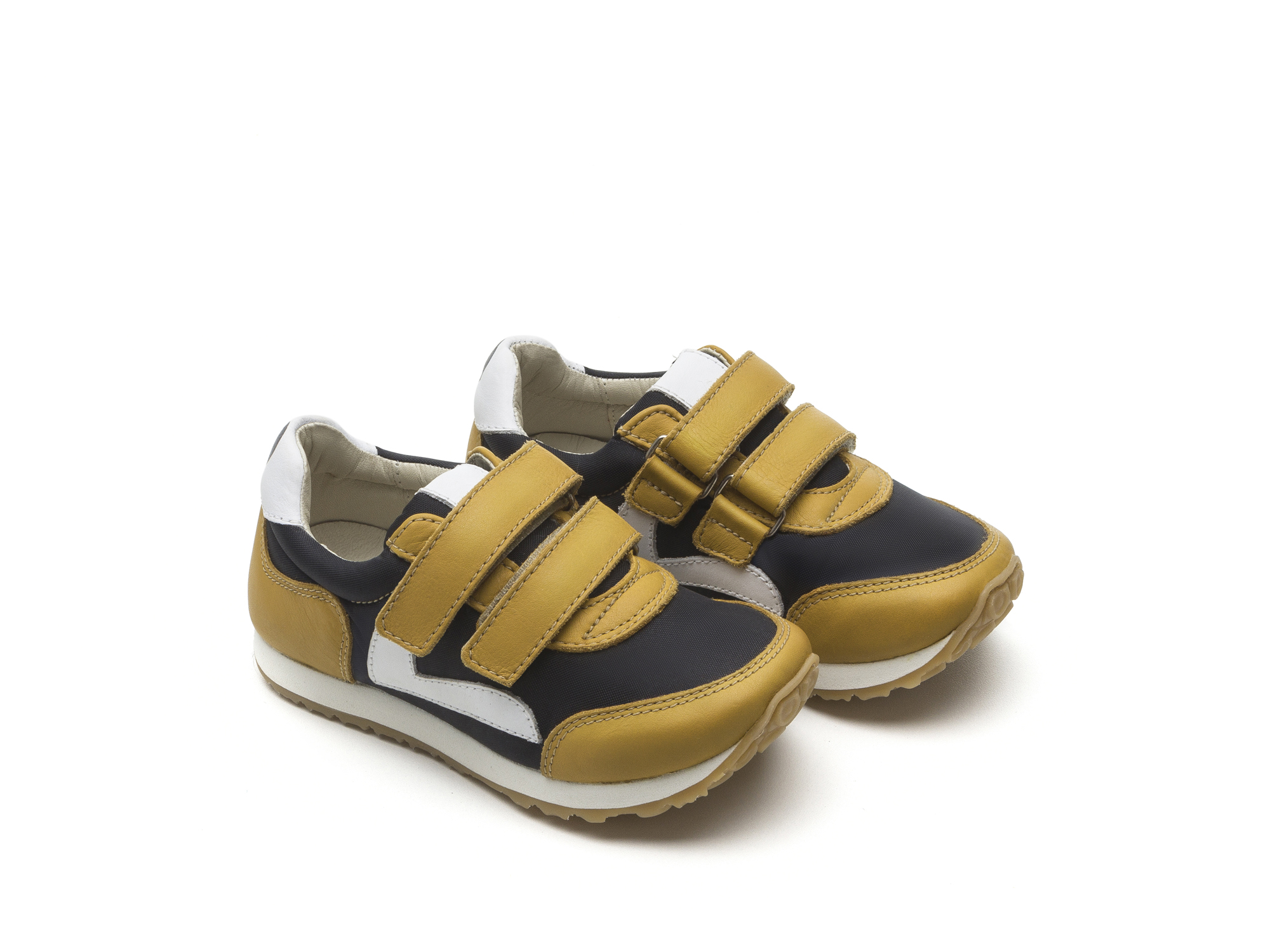 Tênis Little Jump Black Nylon/ Yellow Blur Toddler 2 à 4 anos - 0