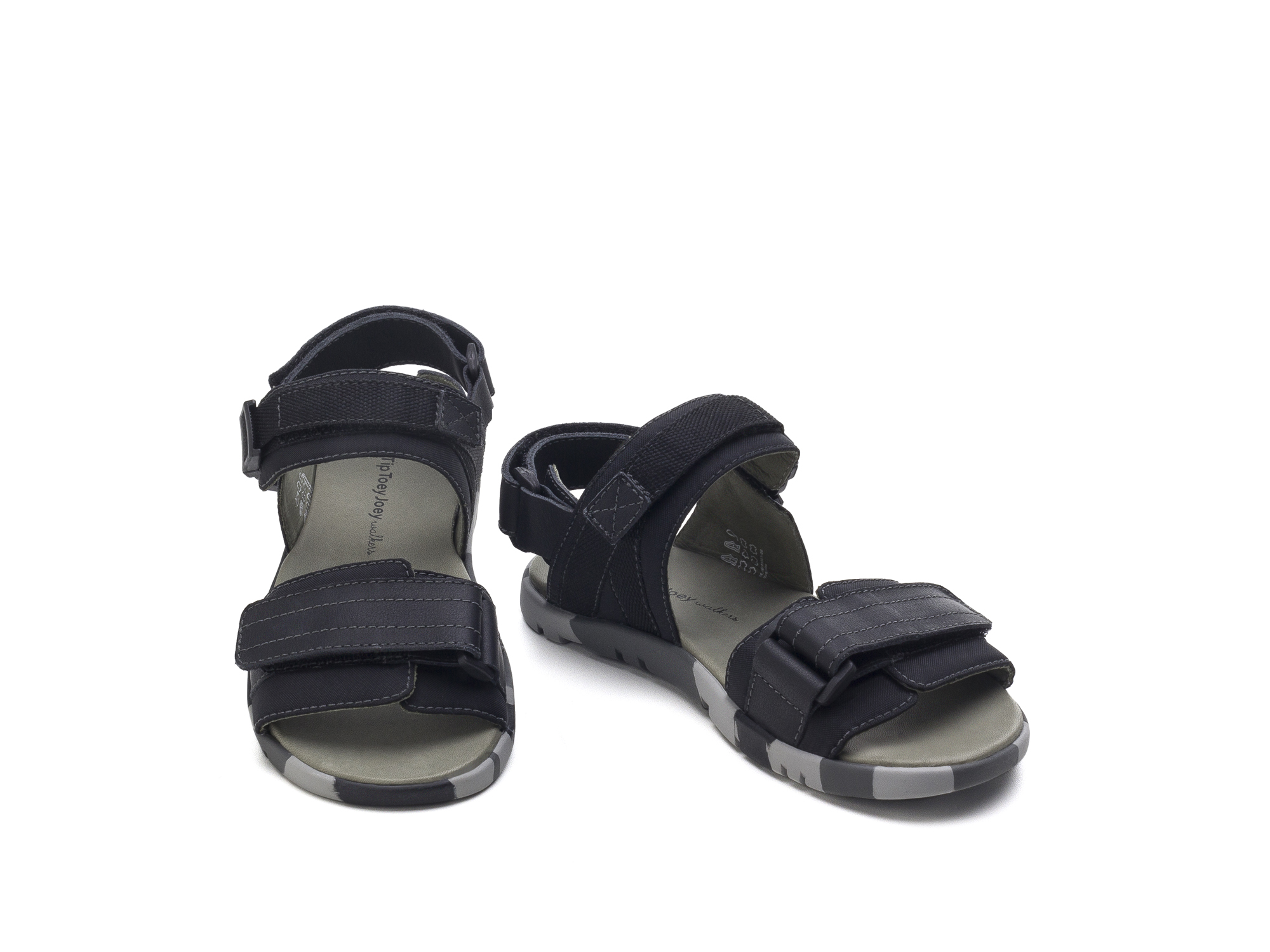 Sandália Soldier Black Nylon/ Black Junior 4 à 8 anos - 2