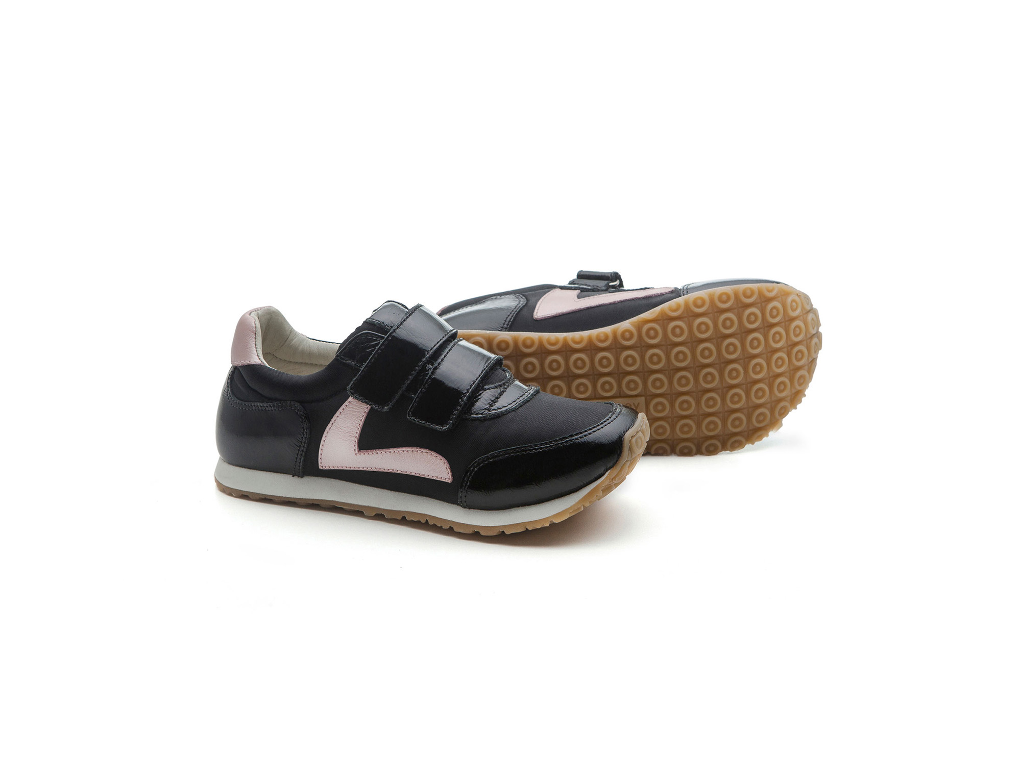 Tênis Jump Black Nylon/ Patent Black Junior 4 à 8 anos - 1