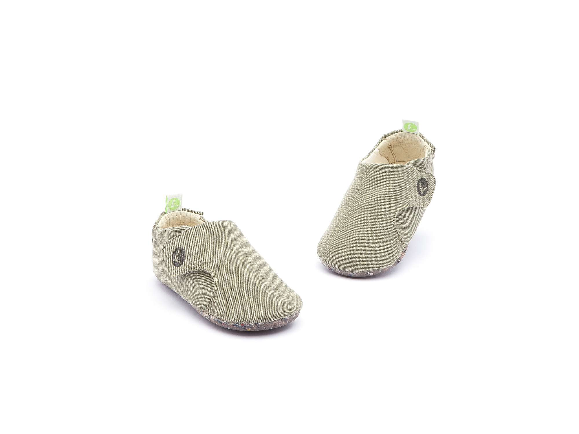 Sneaker Casual Greeny Light Olive Canvas Baby 0 à 2 anos - 4