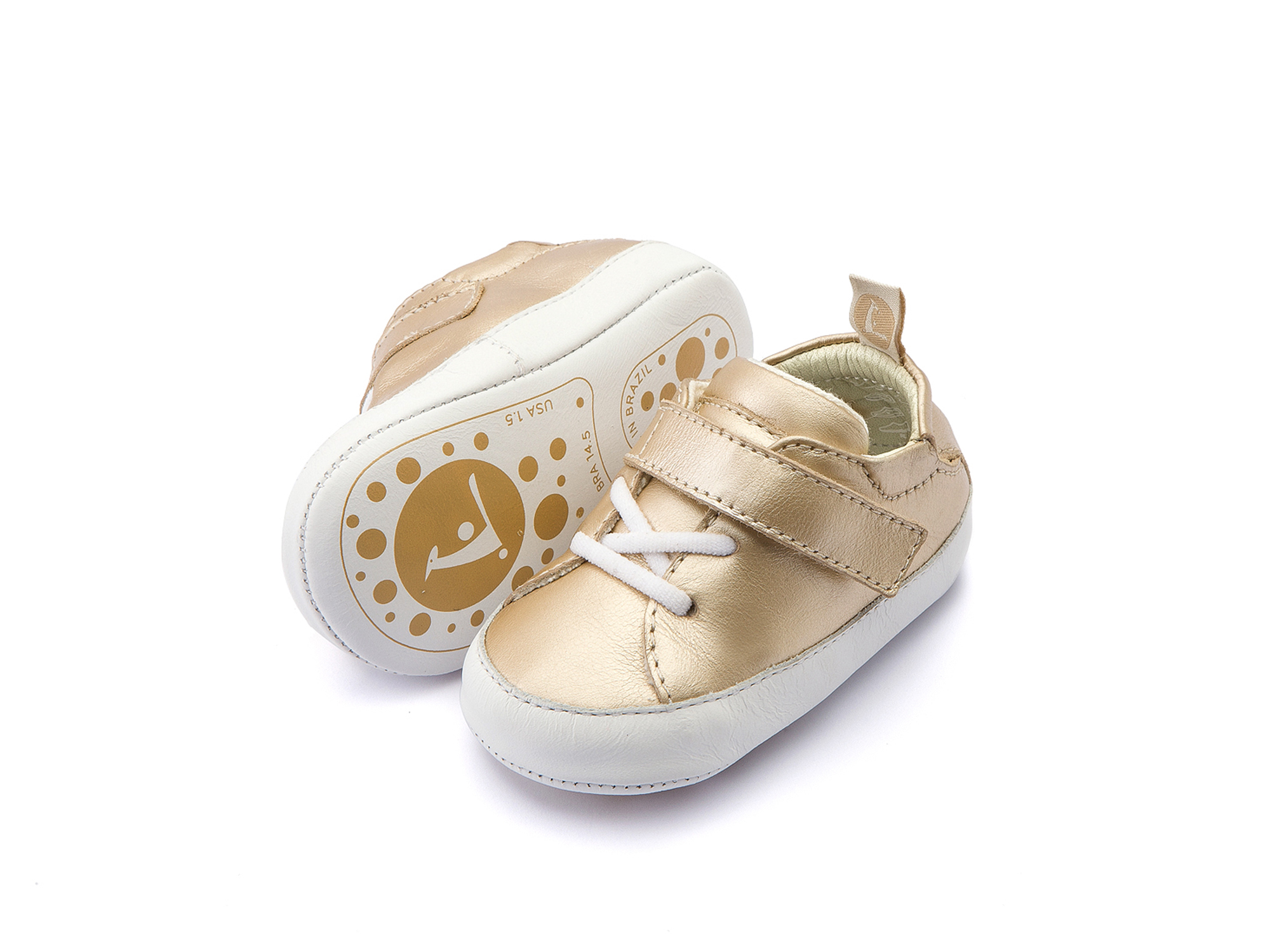 Tênis Light Fine Gold/ White Baby 0 à 2 anos - 2