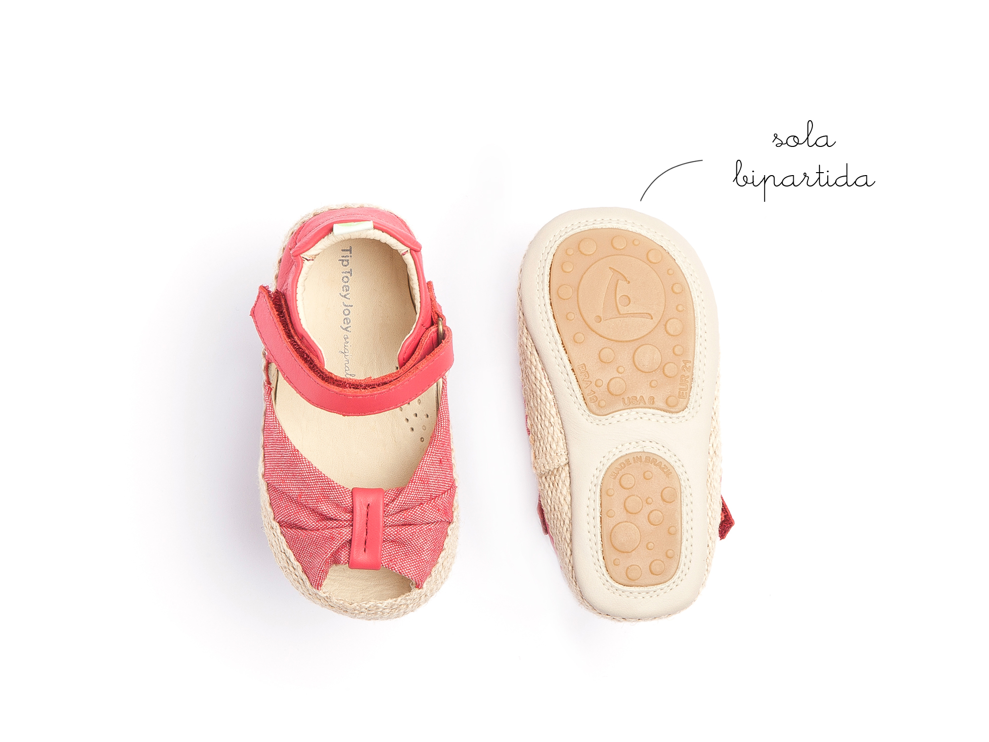 Sandália Coasty Cranberry Canvas/ Cranberry Baby 0 à 2 anos - 1
