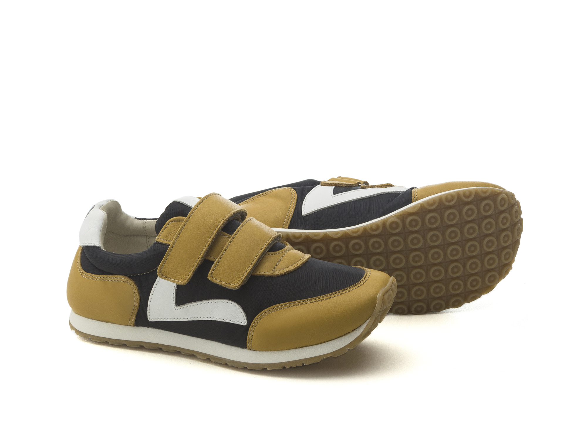 Tênis Jump Black Nylon/ Yellow Blur Junior 4 à 8 anos - 2