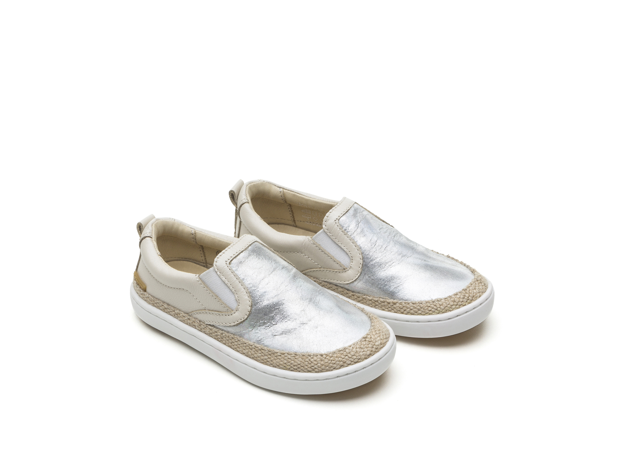 Tênis Little Straw Sea Sparkle/ Antique White Toddler 2 à 4 anos - 0
