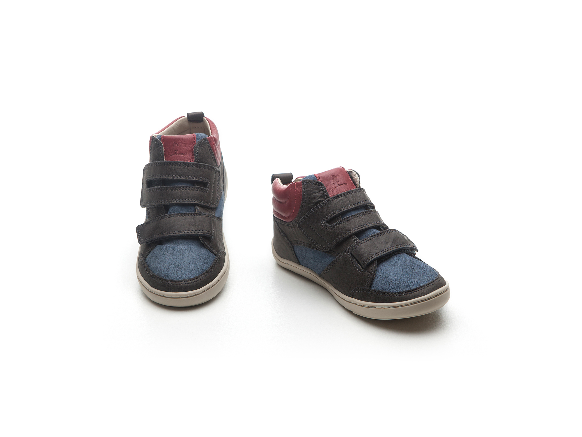 Bota Surface Black Crush/ Dry Denim Suede/ Tomato Junior 4 à 8 anos - 1