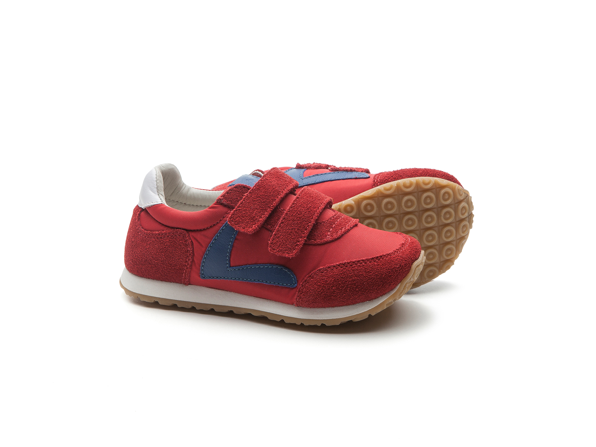Tênis Jump Red Nylon/ Red Suede Junior 4 à 8 anos - 2