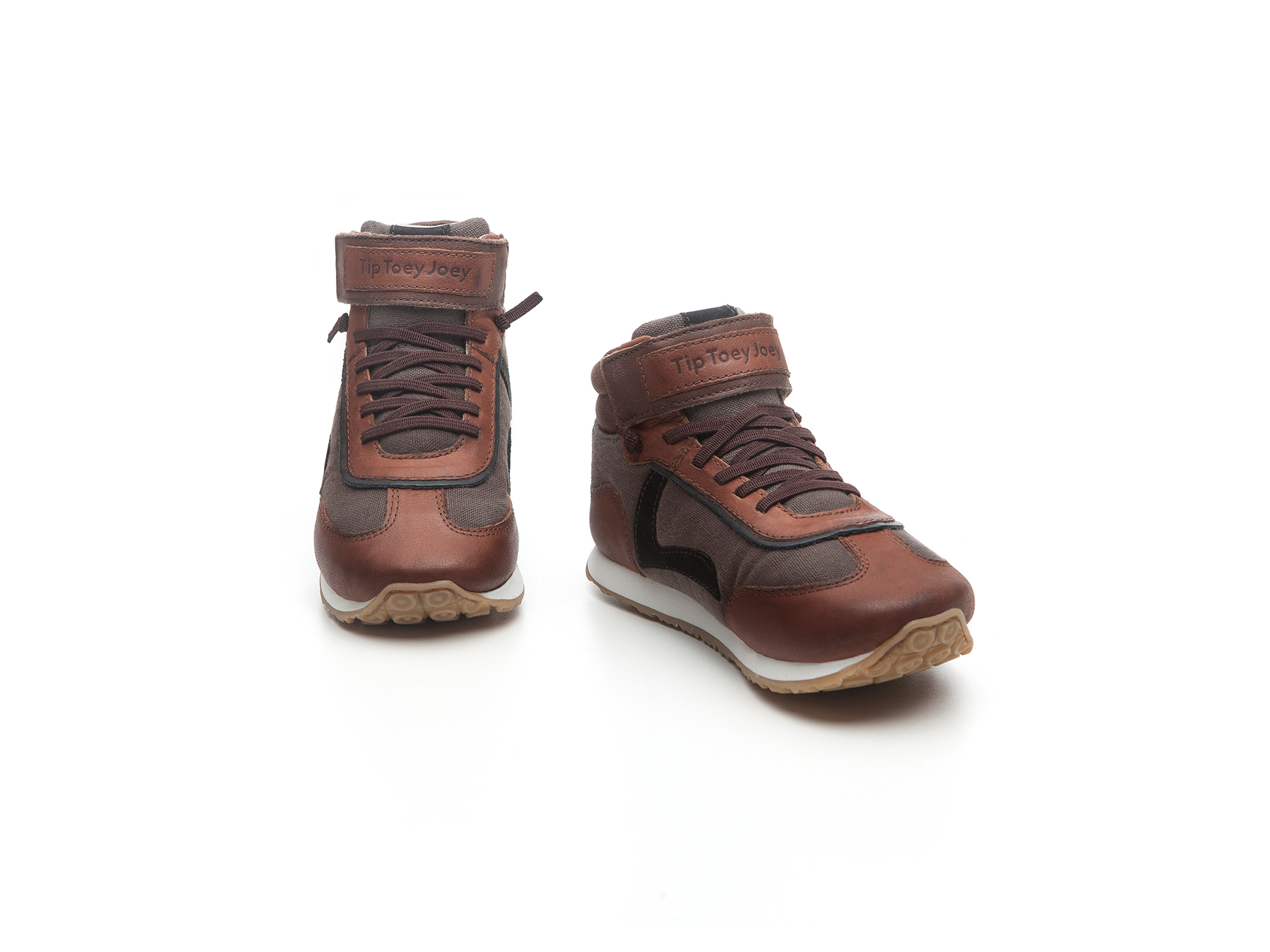 Bota T Leap D.grey Canvas/ Burning Wood/ O.brown Toddler 2 à 4 anos - 1
