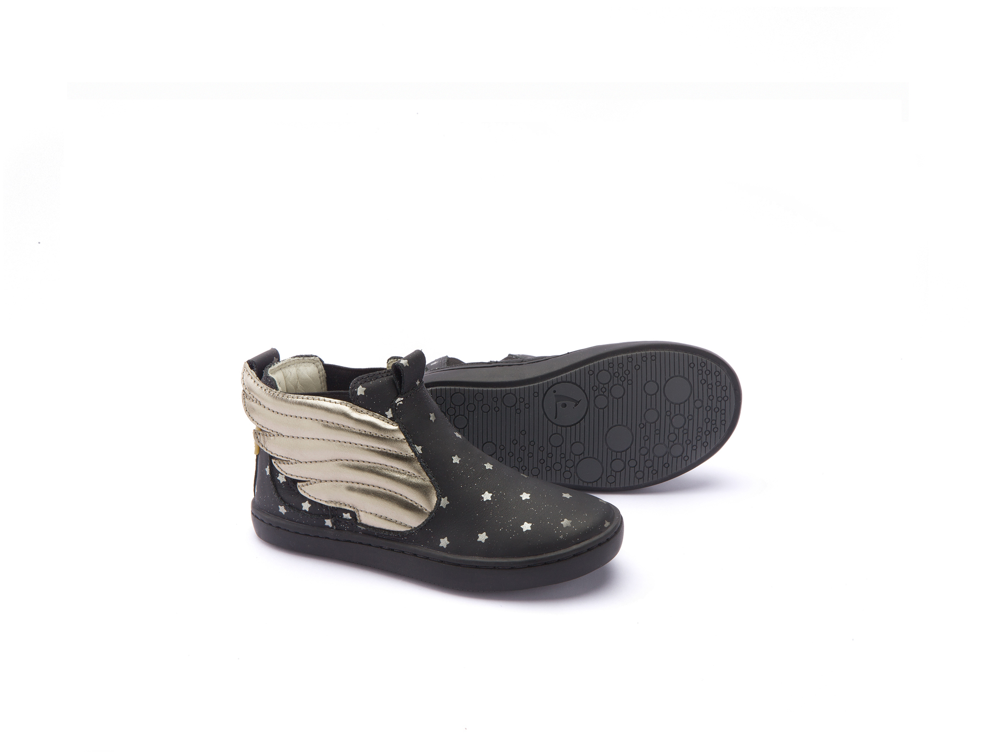 Bota Little Fantasy Black Stars/ Gold Sparkle Toddler 2 à 4 anos - 2
