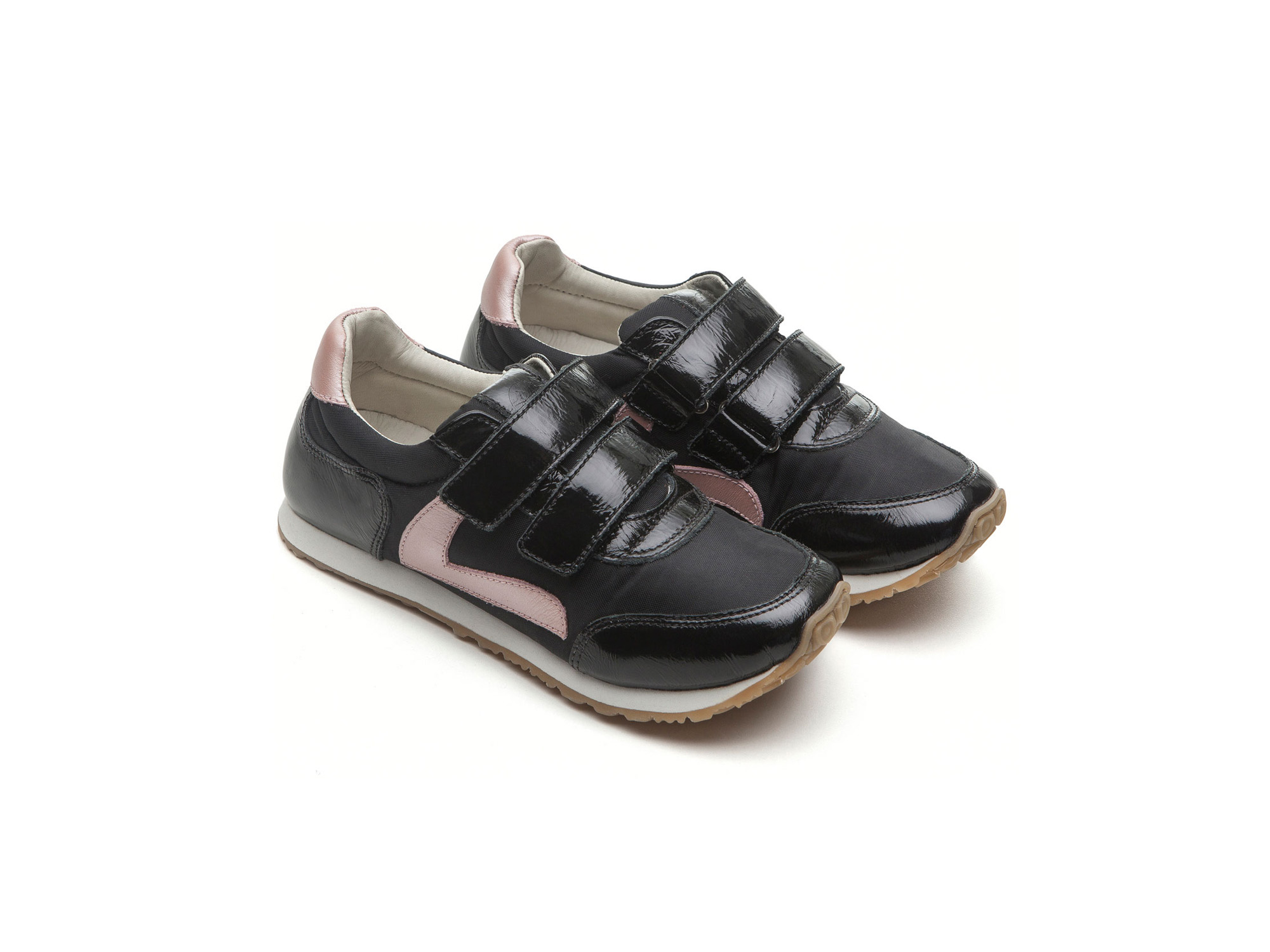 Tênis Jump Black Nylon/ Patent Black Junior 4 à 8 anos - 0