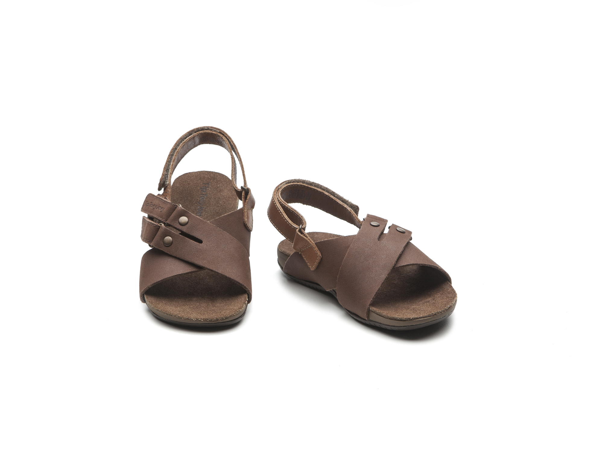 Sandália T Leash Old Brown/ Brown Thrash Toddler 2 à 4 anos - 1
