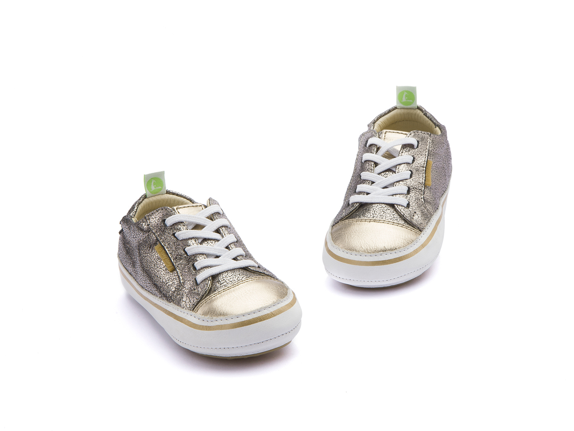 Tênis Funky Old Silver Shine/ Gold Sparkle/ White Baby 0 à 2 anos - 2