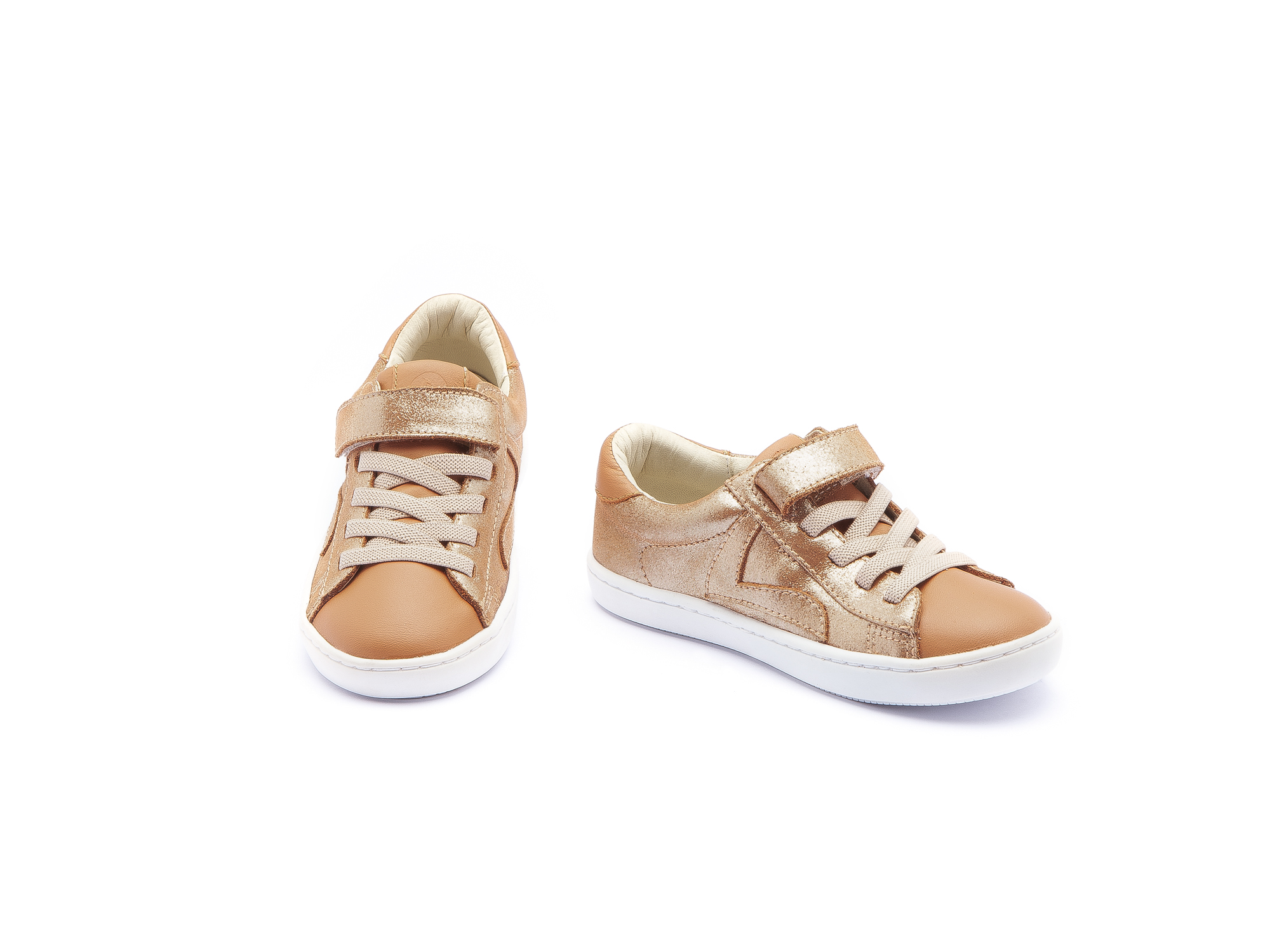 Sneaker Casual Little Skid Mica Gold/ Amendoim Toddler 2 à 4 anos - 1