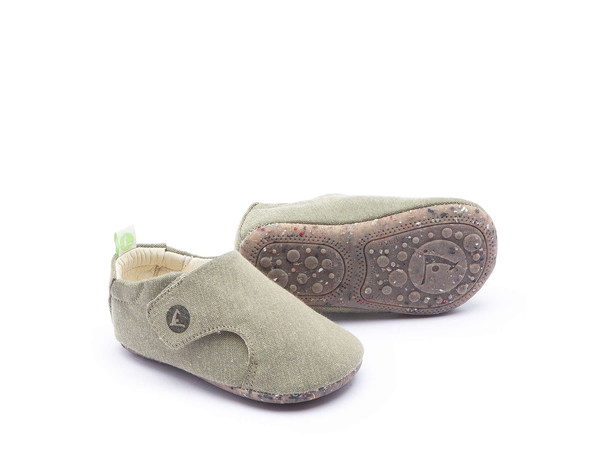 Sneaker Casual Greeny Light Olive Canvas Baby 0 à 2 anos - 0