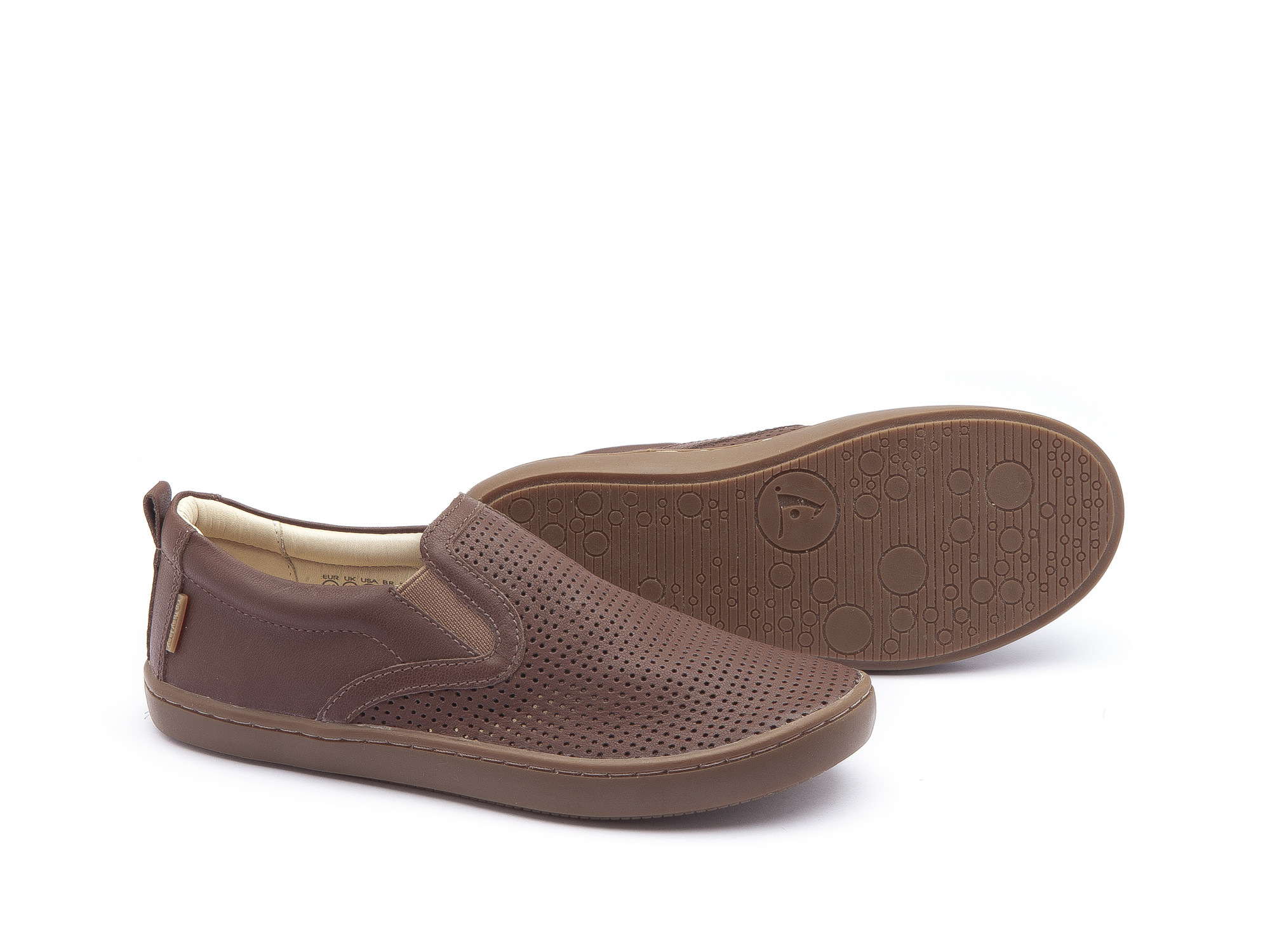 Sneaker Casual Straw Old Brown Holes/ Old Brown Junior 4 à 8 anos - 1