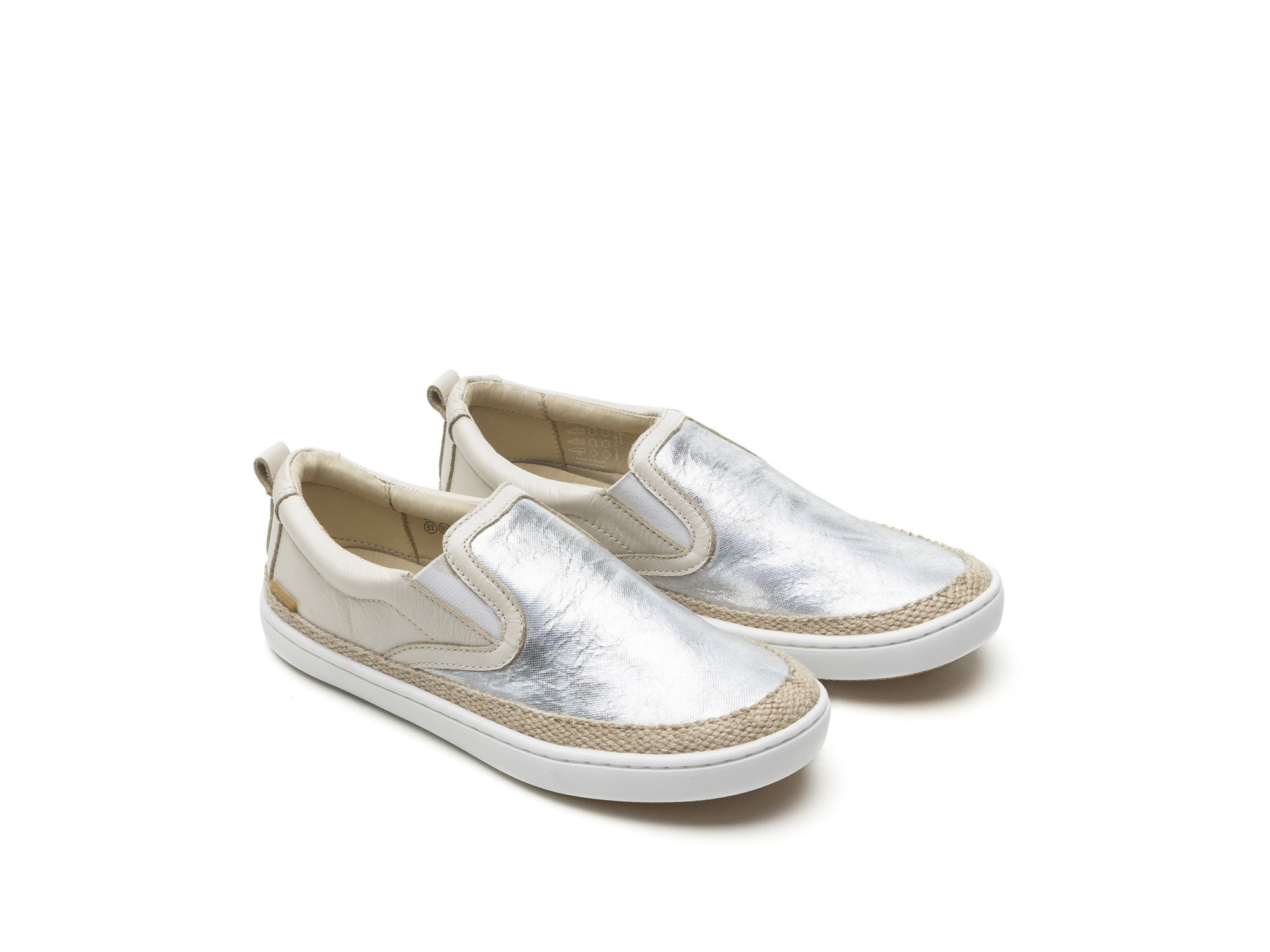 Tênis Straw Sea Sparkle/ Antique White Junior 4 à 8 anos - 0