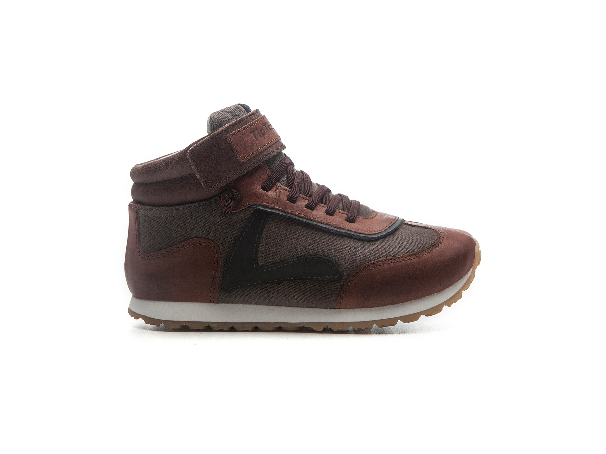 Bota T Leap D.grey Canvas/ Burning Wood/ O.brown Toddler 2 à 4 anos - 0