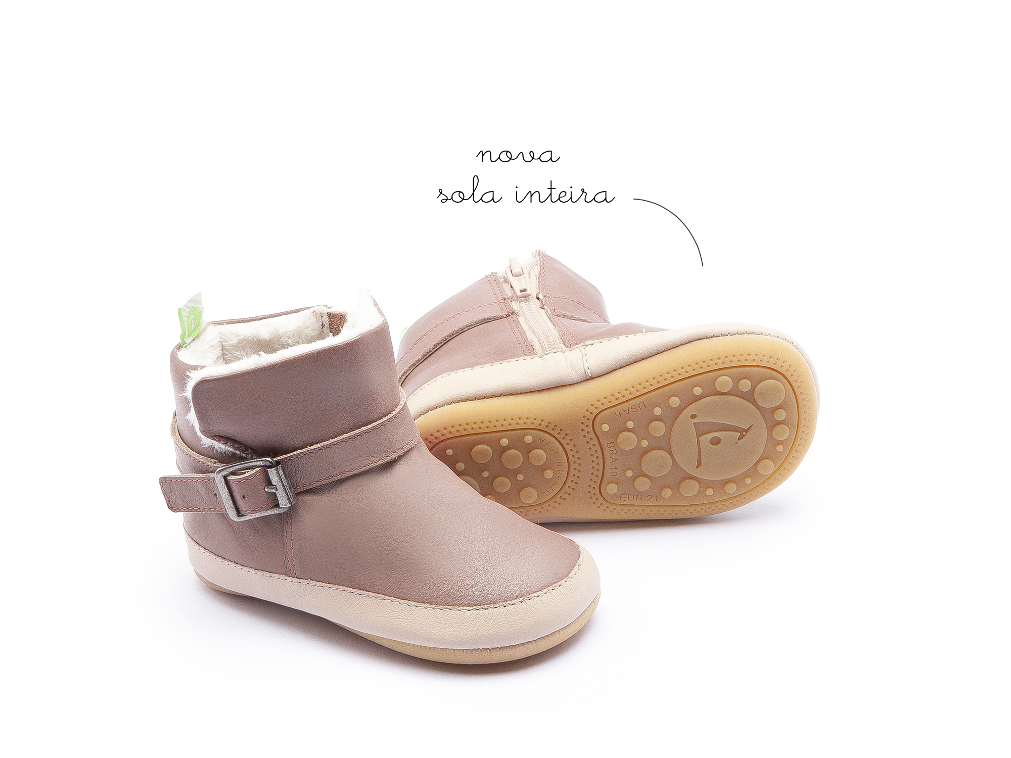 Bota Chilly Mogno Rose/ Yogurt Baby 0 à 2 anos - 0