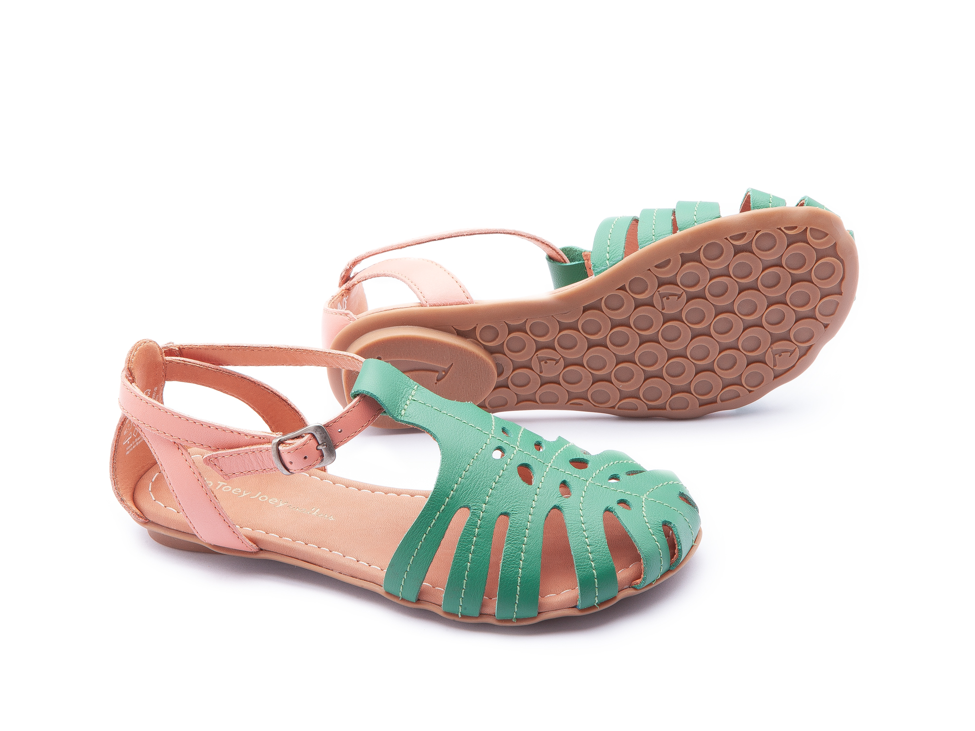 Sandália Tropical Green Leaf/ Flamingo Junior 4 à 8 anos - 2