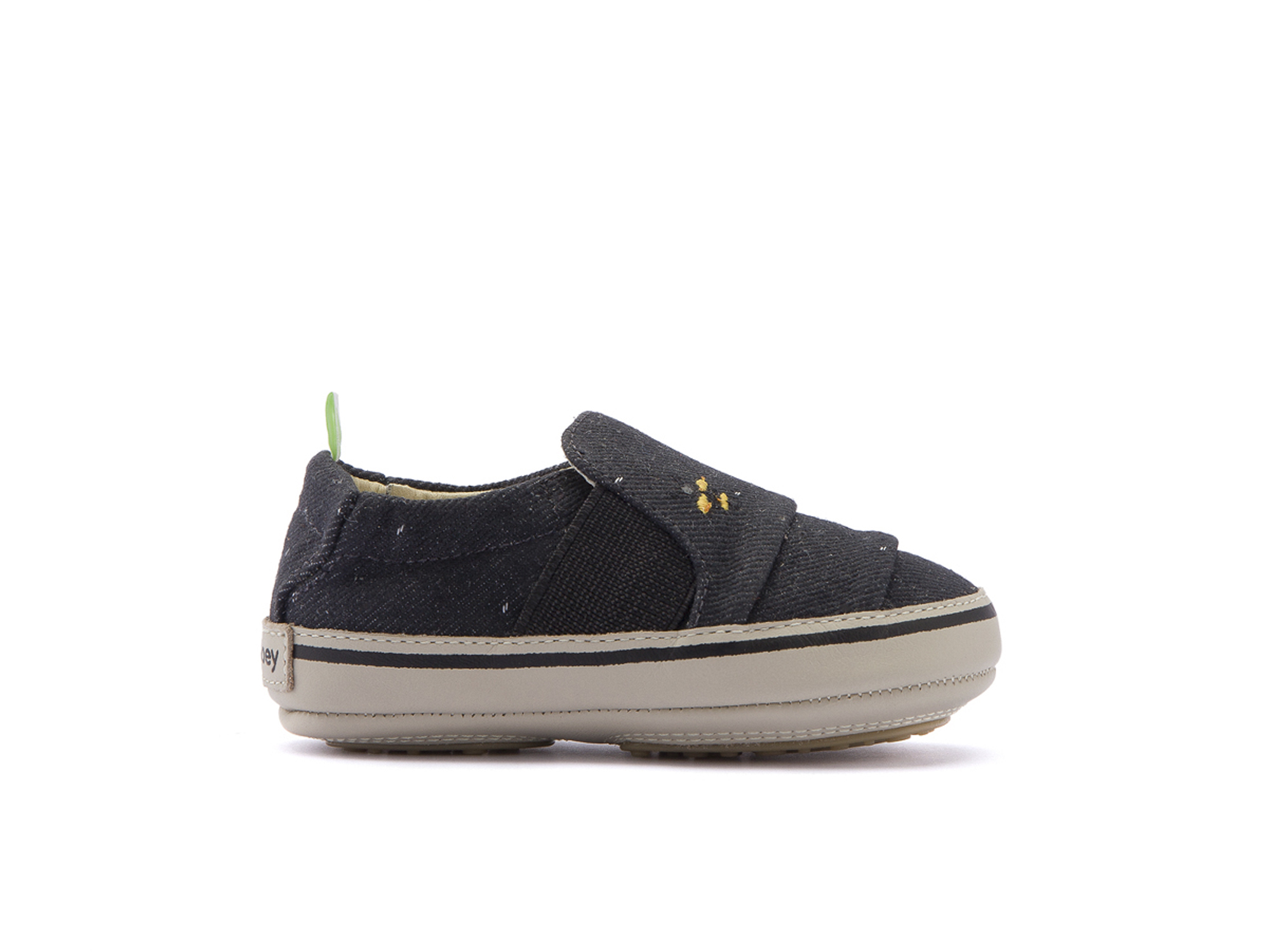 Tênis Slippy Black Space Canvas Beeswax/ Pumice Baby 0 à 2 anos - 1