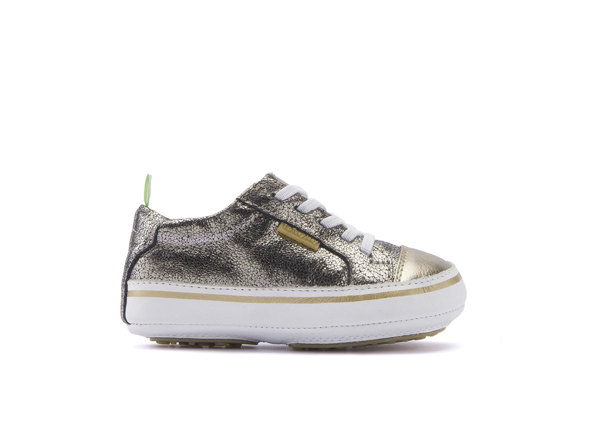 Tênis Funky Old Silver Shine/ Gold Sparkle/ White Baby 0 à 2 anos - 1